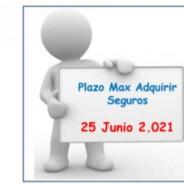 Ampliamos plazo para contratación de seguro y mutualidad hasta 25/6